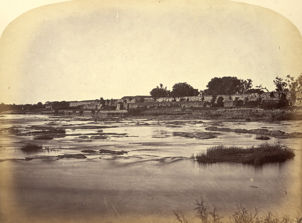 The Fort at Shrirangapattana [Seringapatam], showing the position of the breach through which  the British Army entered in May 1799.